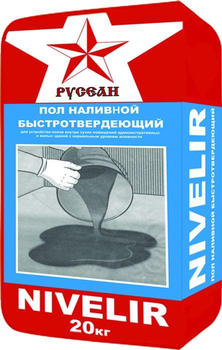 Наливной пол Русеан Nivelir, 20 кг