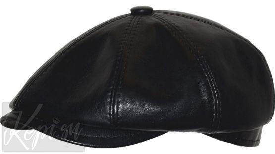Кепка кожаная восьмиклинка (мужская, хулиганка).
