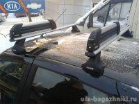 Багажник на крышу Datsun On-Do, Атлант, аэродинамические дуги, опора Е