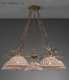 Люстра LA LAMPADA L 664/3.40 Marrone+Gold d21