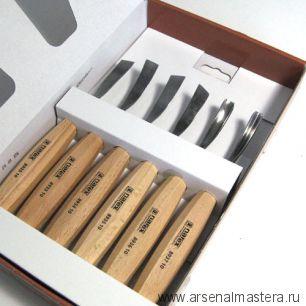 Набор резцов 6 шт Narex Standart в картонной коробке 8947 10