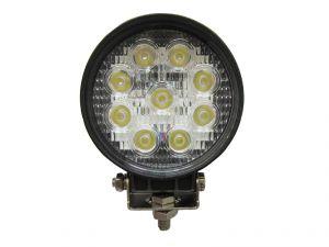 Круглая светодиодная LED фара рабочего света 27W