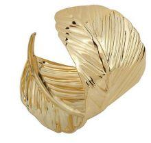 Браслет в форме золотого листа