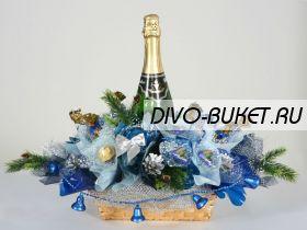 """Букет из конфет №372 """"Новогодние колокольчики"""""""