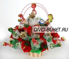 """Букет из конфет №359 """"Новогодний подарок"""""""