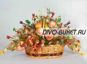 """Букет из конфет №602 """"Пикник"""""""