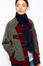 однотонный кашемировый шарф (100% драгоценный кашемир), классический глубокий синий цвет, высокая плотность 7