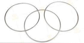 """СцепленныеТри кольца с магнитным замком 12"""" (30 см) (стальные трубки - лёгкие)"""