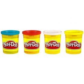 Play-Doh Набор пластилина неоновых цветов 4 банки