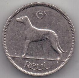 6 пенсов 1935 г. редкий год. Ирландия (Великобритания)