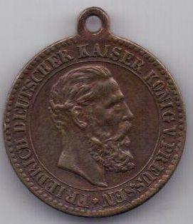медаль 1888 года Пруссия AUNC Германия