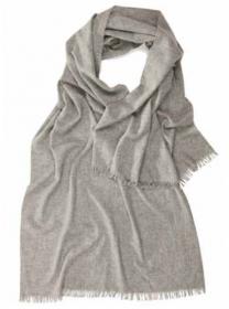 Шотландская легкая шаль, 100 % драгоценный кашемир ,  Пепельная расцветка Light Grey , плотность 4