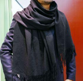 Роскошный большой плотный шарф, высокая плотность, 100 % драгоценный кашемир , Сливовая расцветка (премиум)