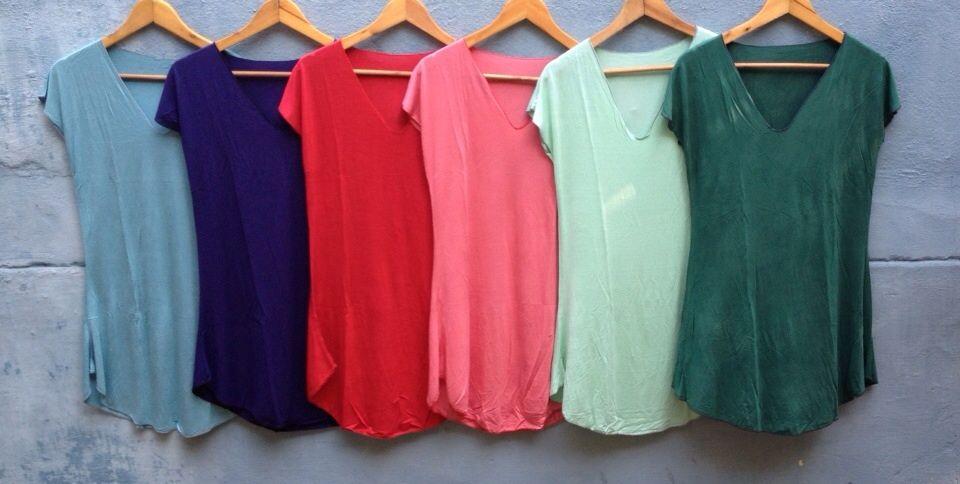 Длинные однотонные женские футболки (отправка из Индии)