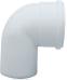 Отвод 90° алюминиевый эмалированный,  диам. 80 мм KHG 71401801