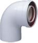 Коаксиальный отвод полипропиленовый 87°, диам. 110/160 мм, HT  KUG 71413361