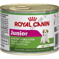 Royal Canin для щенков Junior mousse, банка 195 гр.