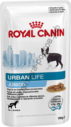 Royal Canin для щенков Urban Life Junior пауч 150 гр., уп. 10 шт.