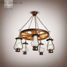 "Люстра N&B light 9405 ""Таверна""– колесо венге"