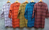 Индийские курты для мужчин и женщин из тонкого хлопка, недорого
