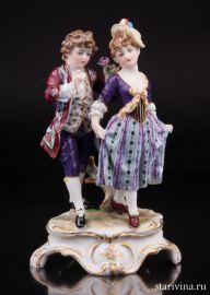 Пара на прогулке, Dressel, Kister & Cie, Германия, 1907-20 гг