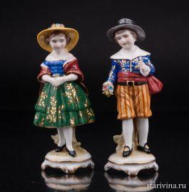 Дети в шляпах, E & A Muller, Германия, 1890-1927 гг