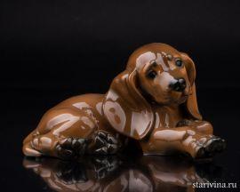 Лежащий щенок таксы, Rosenthal, Германия, 1960 гг., артикул 01467