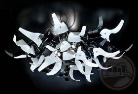 Люстра METALLUX 214.385.02/03 Chrome 30 vetri white.black
