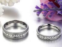 Свадебные кольца с алмазной крошкой