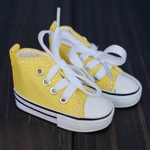 Обувь для кукол Тильда -7,5 см желтые кеды