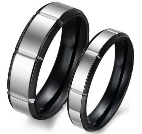Черно-белые обручальные кольца