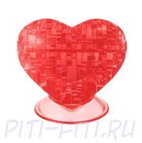 Головоломка CRYSTAL PUZZLE Сердце красное