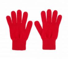 кашемировые перчатки женские (100% драгоценный кашемир) , цвет Кардинал (Ярко-красный) Cardinal