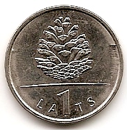 Шишка  1 лат Латвия 2006