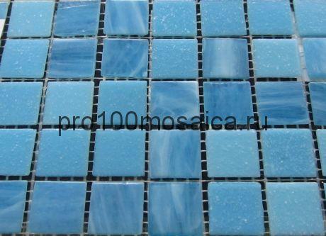 Satin Blue V-5003. Мозаика для бассейнов серия CLASSIC, вид MIX (СМЕСИ),  размер, мм: 327*327 (ORRO Mosaic)