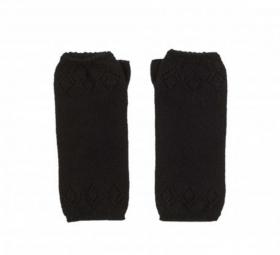 кашемировые митенки  (100% драгоценный кашемир) , классический чёрный цвет
