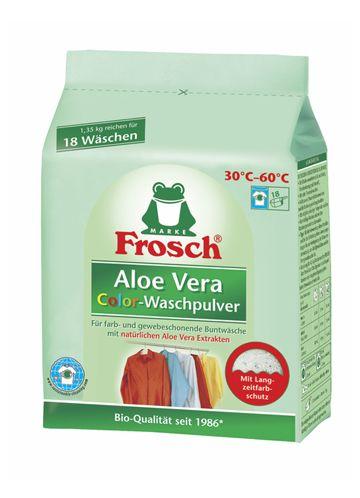 Frosch КОЛОР АЛОЕ ВЕРА стиральный порошок для цветного белья, 1,35 кг