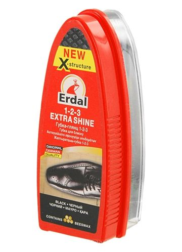 Erdal Губка-глянц 1-2-3 (черный)