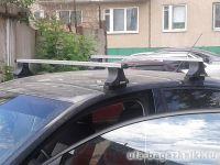 Багажник на крышу Hyundai Verna, Атлант, прямоугольные дуги