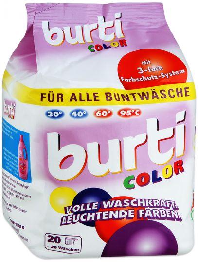Burti Color концентрированный стиральный порошок для цветного и тонкого белья, 1500 гр