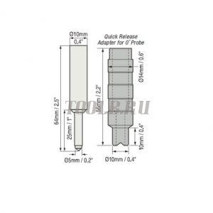Датчик N0S для Defelsko PosiTector 6000