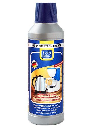TOP HOUSE Биоочиститель накипи на основе лимонной кислоты для всех водонагревательных приборов, 500 мл