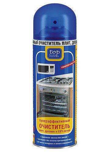 TOP HOUSE Суперэффективный очиститель плит, духовок и СВЧ печей, 500 мл (аэрозоль)