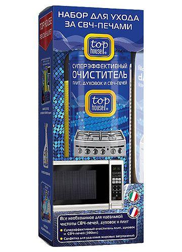 TOP HOUSE Набор для ухода за СВЧ-печами 2 пр. (очиститель 300 мл + салфетка)