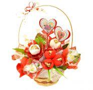 """Букет из конфет №429 """"День Святого Валентина"""""""