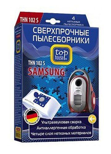 TOP HOUSE THN 102 S сверхпрочные нетканые пылесборники, 4 шт.