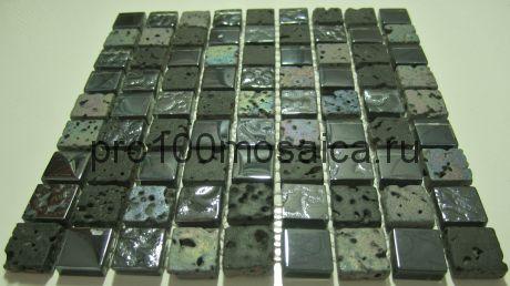 DGS030 (6мм). Мозаика серия GLASSTONE,  размер, мм: 300*300 (КерамоГраД)