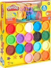 Супер набор пластилина Play-Doh (18 баночек, 16 аксессуаров) A4897