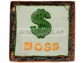 Подарок руководителю Пряники «BOSS» Сладости для лидеров