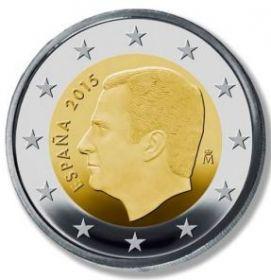 2 евро регулярная монета Испания 2015